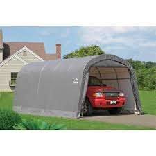 10x20 Garage Garage In A Box 12 U0027 X 20 U0027 X 8 U0027 Roundtop Instant Garage Gray