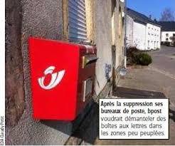bureau de poste arlon la poste voudrait supprimer les boîtes aux lettres de villages l