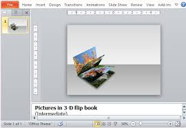 how to create a 3d picture flip book in powerpoint