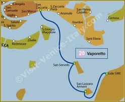 venice vaporetto map water venice vaporetto map of line 20 actv