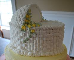 pan baby shower apply basket weave to bottom of flat wilton pan use piping
