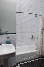 Contemporary Tile Bathroom Bathroom Subway Tile Bathroom Contemporary With Bath Caddy Black