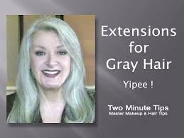 grey hair extensions extensions for gray hair yipee a