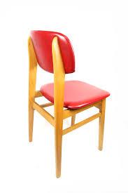 Esszimmerstuhl Rot 2 Stabile Ddr Küchen Stühle Im Set Massiv Holz Leder Polster Rot