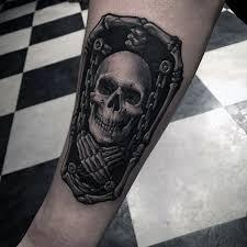50 skeleton tattoos for spine tingling after designs