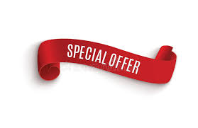 discount ribbon special offer ribbon scroll banner sale tag market special