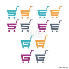 s shopping shopping cart logo letter s e g design vector logo stock