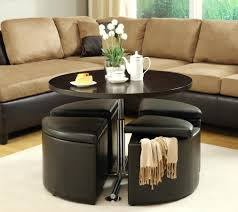 coffee table brown faux leather storage ottoman bench coffee