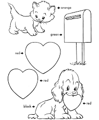 14 coloring pages st valentines print color craft