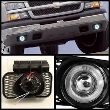 2003 chevy silverado fog lights chevy silverado 2003 2006 clear halo projector headlights set and