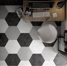 gorgeos tiles cut to hexagon shapes description from