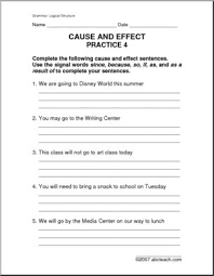 cause and effect signal words worksheet phoenixpayday com