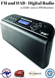 digital radio fm sleek dab alarm clock black music soundspeaker