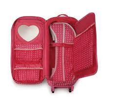 amazon com badger basket trolley doll travel case with rocking