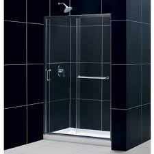 Frameless Glass Shower Door Kits by Dreamline Showers Infinity Z Sliding Shower Door