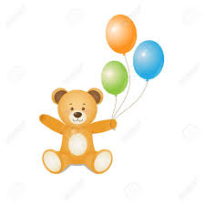 teddy bears in balloons teddy holding balloons in design for prints
