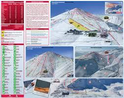 Colorado Ski Area Map by El Colorado Piste Map Trail Map