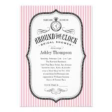around the clock bridal shower personalized around the clock wedding shower invitations