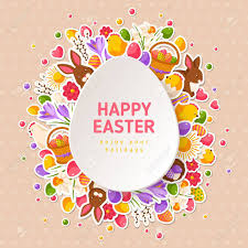 easter greeting cards happy easter greeting cards with paper cut easter egg vector