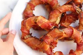 red onion rings images Smoked bacon wrapped onion rings with avocado lime sauce jpg