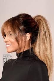 pony hair balayage pony shiny hair bangs