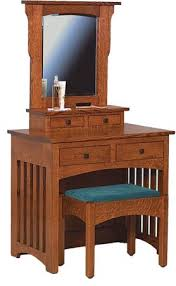schwartz table mission dressing table with bench