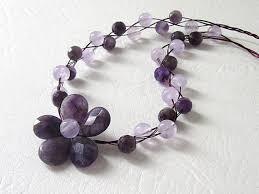 purple gemstone necklace images Amethyst flower necklace amethyst gemstone by urbandaisydesign jpg