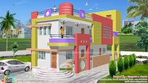 1600 sq ft colorful north indian home kerala home design