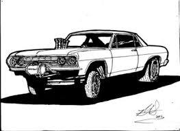 drawn car 50s car pencil color drawn car 50s car