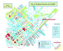 Portland Maine Map by Mapping Art In Portland Me
