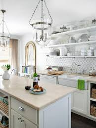 Kitchen Cottage Ideas by Cottage Kitchen Interiors White Color Nook Antique Pendant Lamps