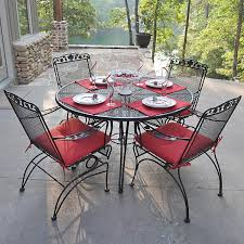Round Chair Cushions Wrought Iron Chair Cushions Outdoor Home Design
