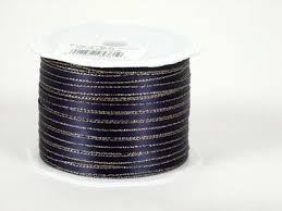 navy blue satin ribbon satin ribbon with gold edge ribbons cheap
