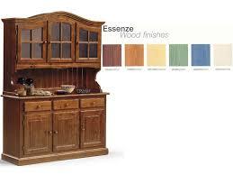 credenze rustiche credenza in legno con vetrinetta per cucina rustica idfdesign