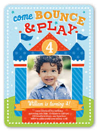 bounce house 6x8 invitation boy birthday invitations