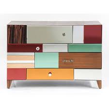 commode design chambre commode design bois et miroir couleur achat vente commode de