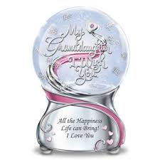 granddaughter gifts collectibles my granddaughter i wish you musical glitter globe