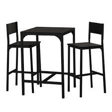 Table Haute Pour Cuisine by Ensemble Table Haute Et Chaise De Bar Noir By Drawer