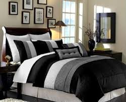 home design comforter bedding set amazing black grey bedding details about 8pc hotel