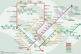Singapore Map World by Singapore Map Mrt System Map Mrt Republic Of Singapore