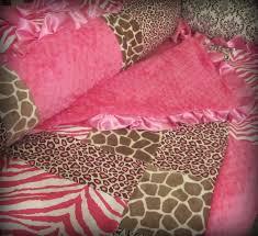 Pink Cheetah Crib Bedding Baby Bedding Pink And Brown Animal Print Crib Set By Ziggetyzag