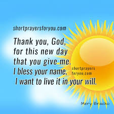 thanks god for a new day prayer morning