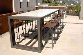 High Patio Table High Outdoor Dining Table Outdoorlivingdecor