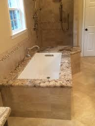 Travertine Bathroom Ideas Bathroom Small Bathroom Design With Cozy Kohler Tubs And