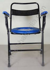 Stylish Folding Chairs Commode Chair Folding Rs 2352 Folding Commode Chair Commode