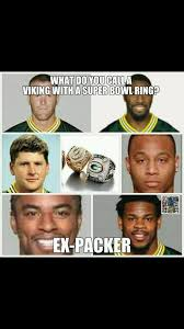 Funny Packers Memes - ha ha i thought it was going to say a thief but ex packer is