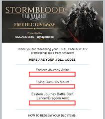 black friday amazon video games reddit ffxiv and amazon free dlc giveaway ffxiv