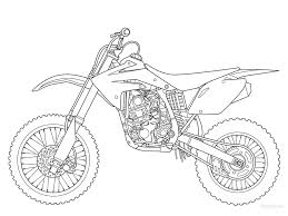 dirt bike coloring pages transportation printable coloring pages