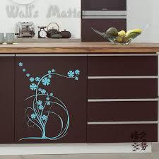 Kitchen Cabinet Decals Vinyl Plant Flower Kitchen Cabinet Decals All Match Kitchen