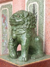 jade lion statue lion statue is symbol in temple stock photo image of